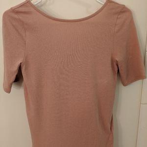 Madewell scoop back shirt blush